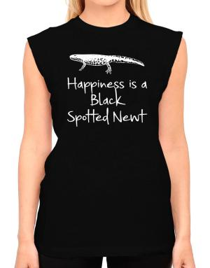 Happiness is a Black Spotted Newt T-Shirt - Sleeveless-Womens