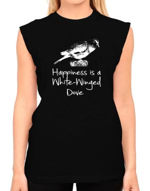 Happiness is a White-Winged Dove T-Shirt - Sleeveless-Womens