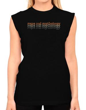 Rapa Nui Mythology repeat retro T-Shirt - Sleeveless-Womens