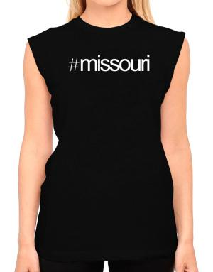 Hashtag Missouri T-Shirt - Sleeveless-Womens