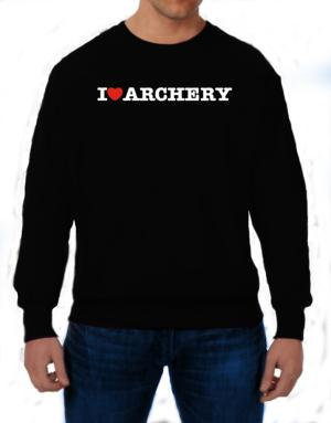I Love Archery Sweatshirt