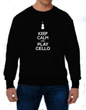 Keep calm and play Cello - silhouette Sweatshirt