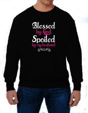 Polera de Blessed by god spoiled by my husband