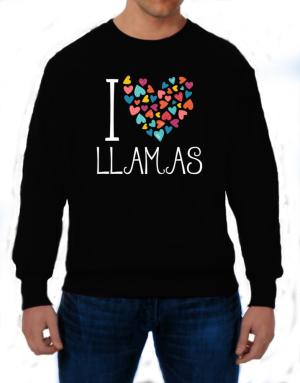 Polera de I love Llamas colorful hearts