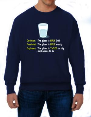 Polera de Optimist pessimist engineer glass problem