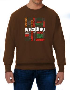 Wrestling Words Sweatshirt