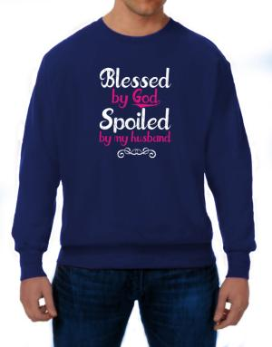 Sudaderas de Blessed by god spoiled by my husband