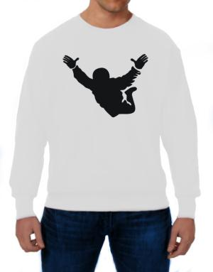 Skydiving free fall Silhouette Sweatshirt