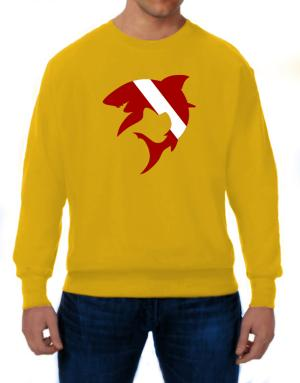 Diver down Shark Scuba Diving Sweatshirt