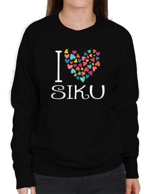 I love Siku colorful hearts Sweatshirt-Womens