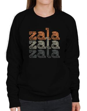 Zala repeat retro Sweatshirt-Womens
