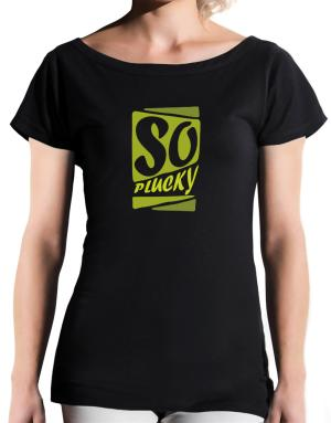 So Plucky T-Shirt - Boat-Neck-Womens