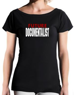 Future Documentalist T-Shirt - Boat-Neck-Womens
