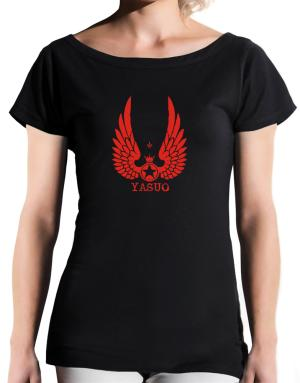 Yasuo - Wings T-Shirt - Boat-Neck-Womens