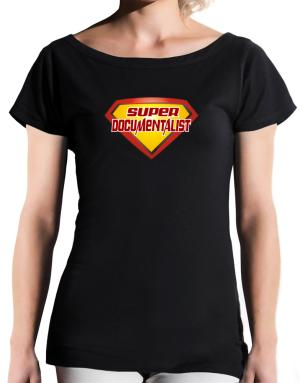 Super Documentalist T-Shirt - Boat-Neck-Womens