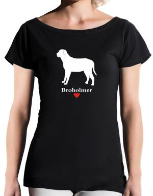 Broholmer love T-Shirt - Boat-Neck-Womens