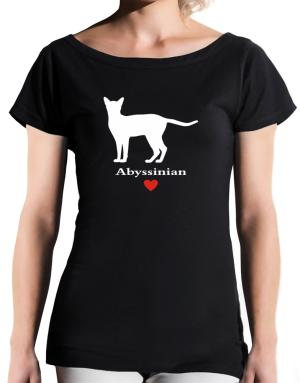 Abyssinian love T-Shirt - Boat-Neck-Womens