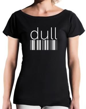 dull  barcode T-Shirt - Boat-Neck-Womens