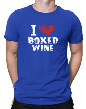 I love boxed wine Men T-Shirt