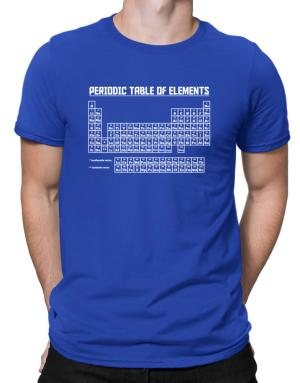 Periodic table of elements Men T-Shirt