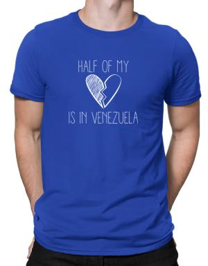 Half of my heart is in Venezuela Men T-Shirt