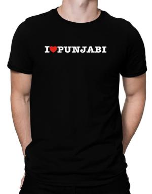I Love Punjabi Men T-Shirt