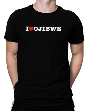 I Love Ojibwe Men T-Shirt