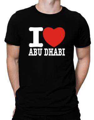 I Love Abu Dhabi Men T-Shirt