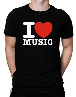 I Love Music Men T-Shirt