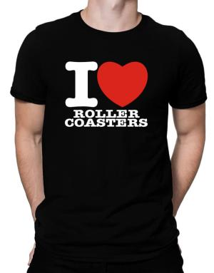 I Love Roller Coasters Men T-Shirt