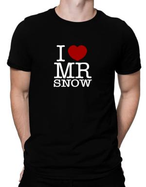I Love Mr Snow Men T-Shirt