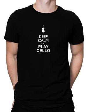 Keep calm and play Cello - silhouette Men T-Shirt