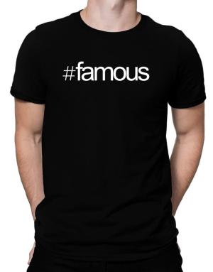 Hashtag famous Men T-Shirt