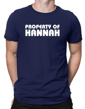 Property Of Hannah Men T-Shirt