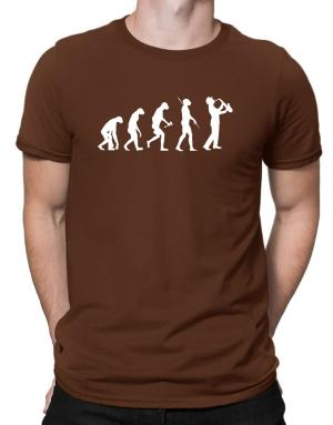Saxophone Player Evolution Men T-Shirt