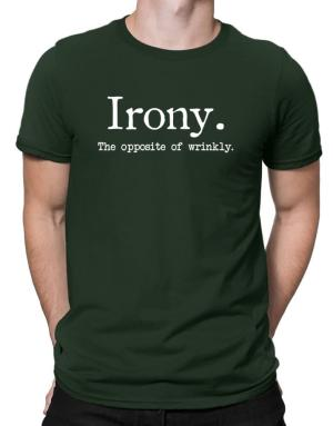 Polo de Irony the opposite of wrinkly