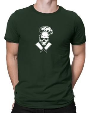 Chef Cooking Skull Men T-Shirt