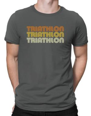 Triathlon Retro Color Men T-Shirt