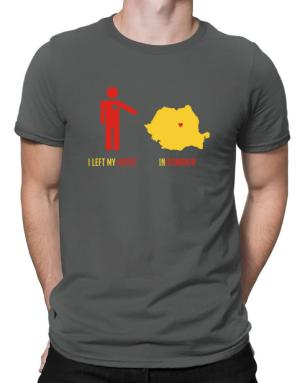 I Left My Heart In Romania - Map Men T-Shirt