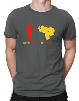 I Left My Heart In Venezuela - Map Men T-Shirt