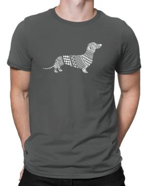 Dachshund Artistic Men T-Shirt