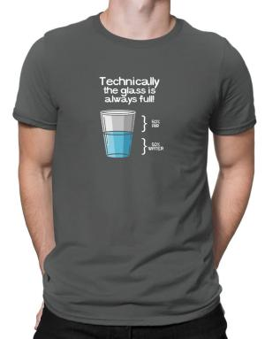 Technically the glass is always full! Men T-Shirt