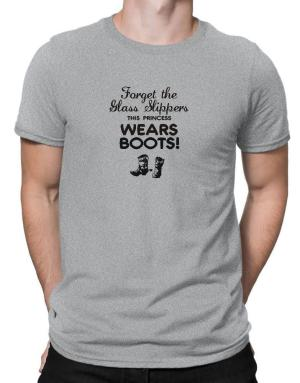 Forget the glass slippers, this princess wears boots! Men T-Shirt