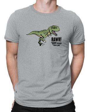 Camisetas de Rawr means I Love You in dinosaur