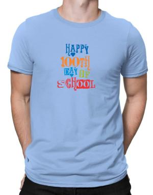 Happy 100th day of school cool style Men T-Shirt