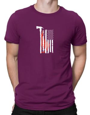 firefighter usa flag Men T-Shirt
