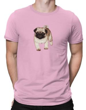 Fluffy Pug Men T-Shirt