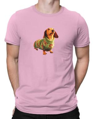 Dachshund christmas sweater Men T-Shirt