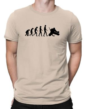 Ice Hockey Goalie Evolution Men T-Shirt