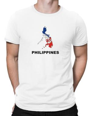 Philippines - Country Map Color Men T-Shirt